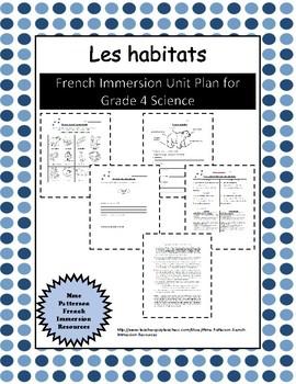Unité - Les habitats (French Unit Plan - Habitats)