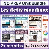 Unité des défis mondiaux l World Challenges Unit in French l AP l 4+ weeks