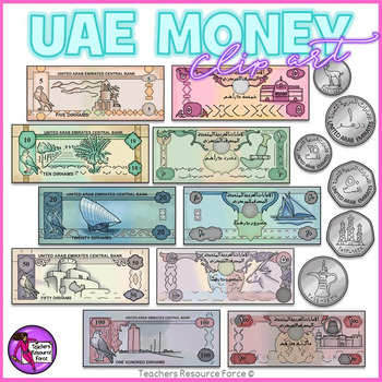 united arab emirates money clip art clipart by teachers resource force rh teacherspayteachers com Money Clip Art Money Clip Art
