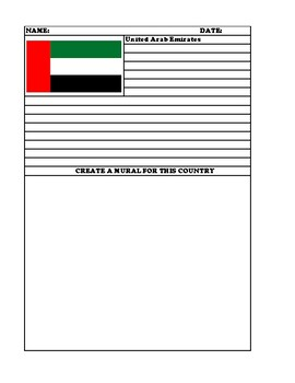 United Arab Emirates Summary Writing and Mural Assignment