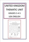 United Kingdom Thematic Unit For Use With Grades 3-4-5