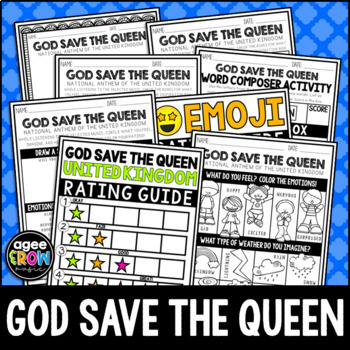 United Kingdom Anthem, God Save the Queen, England, Listening Sheets