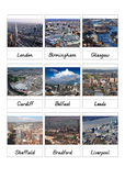 United Kingdom Cities 3-Part Cards