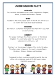 United Kingdom Fact Cards