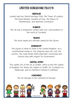United Kingdom Fact Cards