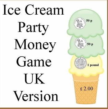 United Kingdom Ice Cream Party Money Game