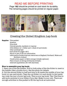 United Kingdom Lap Book (Northern Ireland, England, Wales, Scotland)