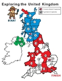 United Kingdom Map Blank Game Board