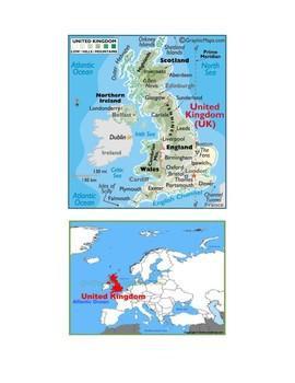 United Kingdom Map Scavenger Hunt