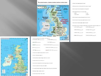 United Kingdom Map and Activities