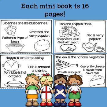 United Kingdom Mini Book for Early Readers - England, Ireland, Scotland, & Wales
