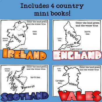 United Kingdom Mini Books Bundle - England, Ireland, Scotland, & Wales