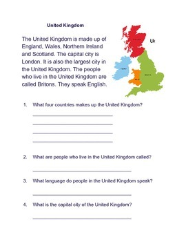 United Kingdom Reading Comp