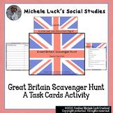 United Kingdom Scavenger Hunt Task Cards Game - England, G