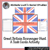 United Kingdom Scavenger Hunt Task Cards Game - England, G