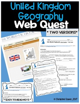 United Kingdom Web Quest