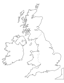 United Kingdom of Great Britain Map Exercise