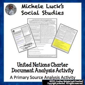 United Nations Charter of 1945 UN Document Analysis Activity