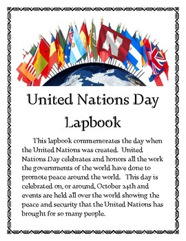 United Nations Day Lapbook