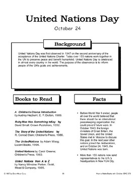 United Nations Day: Making Books