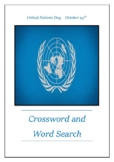 United Nations Day - October 24th Crossword Puzzle Word Search Bell Ringer