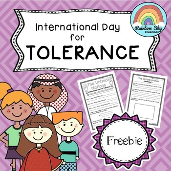 United Nations - Day of Tolerance Freebie