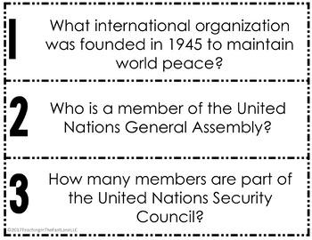 United Nations Fan & Pick {U.S. History}