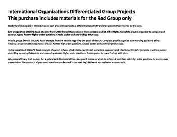 United Nations Group Project RED GROUP- low ability