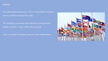 United Nations - Power Point Full History Facts Information Pictures