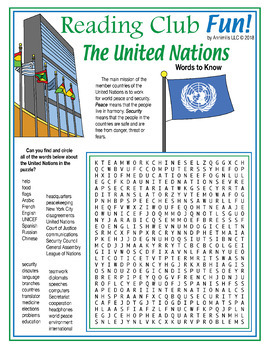 United Nations Puzzle Pack – History, Mission, Members, Vocabulary