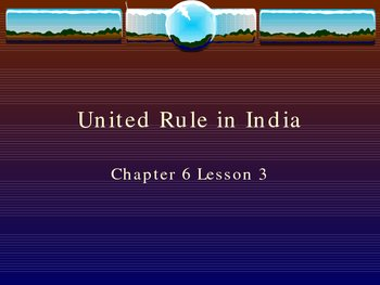 United Rule in India Power Point