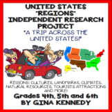 United Sates Regions Independent Research Project, Creative and Fun!