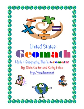 United States GEOMATH - Math + Geography = Common Core Fun