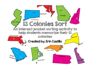 United States 13 Colonies Sort