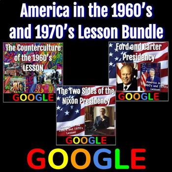 United States 1960's and 1970's Lesson Bundle