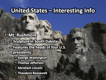 United States Geography PowerPoint Presentation