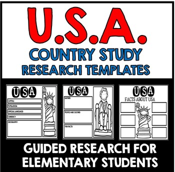 United States of America Country Study Research Project Templates