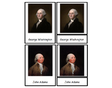 United States President 4 Part Cards