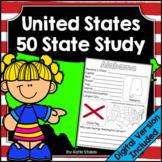 United States 50 State Study | Printable & Digital