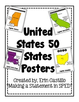 United States 50 States Posters