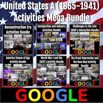 United States A (1865-1941) Activities Mega Bundle