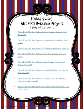 United States ABC Book Research Project