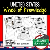 United States Activity, Wheel of Knowledge (Interactive Notebook)