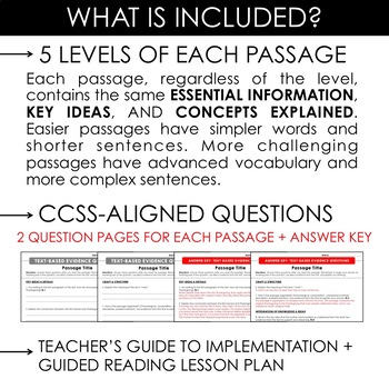 United States BUNDLE: Differentiated Reading Passages