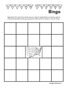 United States Bingo (and Capitals)