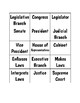 United States Branches of Government ~ Word Sort