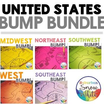 United States Games: Bump Bundle for U.S. States, Capitals, Abbreviations