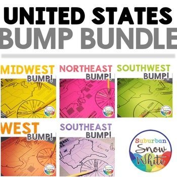 United States Games: Bump Bundle for U.S. States, Capitals, Abbreviations