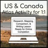 United States & Canada Comparison Atlas Activity for 1:1 G