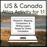 United States & Canada Comparison Atlas Activity for 1:1 G